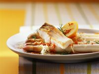 Asparagus with Perch recipe
