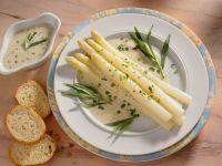 Asparagus with Tarragon-butter Sauce recipe