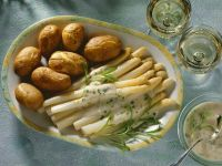 Asparagus with Tarragon-butter Sauce and Potatoes recipe