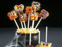 Assorted Scary Face Pops recipe