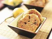 Aubergine and Hazelnut Fritters recipe