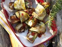 Aubergine Halloumi Skewers recipe
