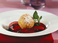 Austrian Dumplings with Plum and Ginger Compote recipe