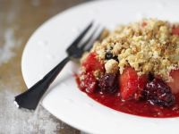 Autumn Fruit Pudding with Topping
