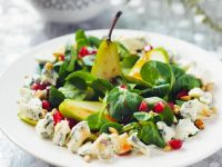 Autumn Salad with Lamb's Lattuce, Pears and Blue Cheese recipe