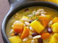 Autumn Vegetable Soup with Beans, Carrots and Pumpkin recipe