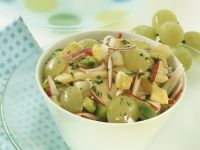 Autumnal Cheese and Grape Salad with Pear recipe