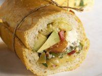 Avacado Feta Baguette Sandwich recipe