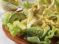 Avocado and Asparagus Salad with Lentil Vinaigrette recipe
