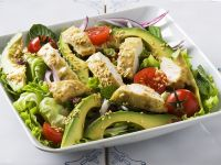 Avocado and Chicken Salad with Sesame Seeds recipe