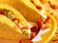 Avocado and Cream Cheese Filled Taco Shells recipe