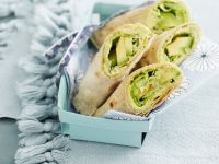 Avocado and Broad Bean Wraps