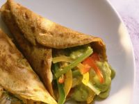 Avocado and Vegetable Filled Crepes recipe