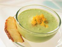 Avocado Cream Soup with Diced Mango recipe