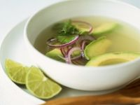Avocado Lime Soup with Ginger and Cilantro recipe