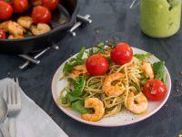 Avocado Pasta with Prawns recipe