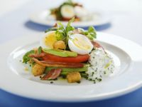 Avocado Salad with Hard-Boiled Egg and Chive Quark recipe