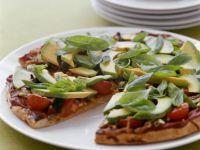 Avocado, Tomato and Basil Pizza recipe