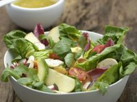 Avocado with Dressed Mixed Leaves recipe
