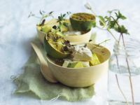 Avocado with Feta Cheese and Grilled Lime recipe