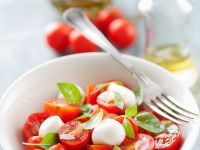 Baby Mozzarella, Tomato, and Basil Salad recipe