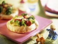 Baby Pizza with Broccoli recipe