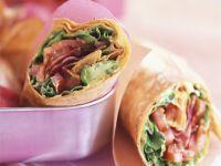 Bacon and Lettuce Tortilla Wraps recipe