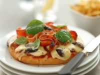 Bacon and Olive Mini Pizzas recipe