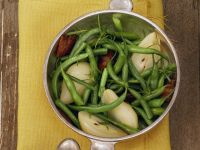 Bacon, Beans and Pears recipe
