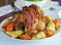 Bacon Chicken with Root Vegetables recipe