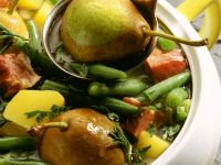 Bacon Green Bean Stew with Pears recipe