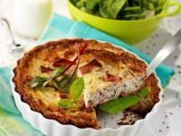 Bacon, Ham and Cheese Quiche recipe