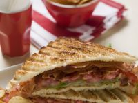 Bacon, Lettuce, and Tomato Sandwich with Chips recipe