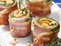 Bacon Roll Bites Stuffed with Feta recipe