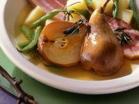 Bacon with Beans and Pears recipe