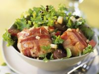 Bacon-wrapped Cheese with Salad recipe
