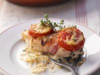 Bacon-Wrapped Chicken with Tomatoes recipe