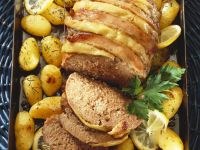 Meatloaf with Bacon and Potatoes recipe
