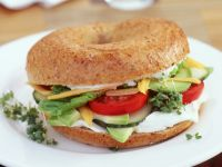 Bagel with Avocado and Cream Cheese recipe