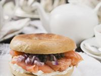 Bagel with Cream Cheese and Lox recipe