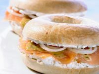 Bagels with Cream Cheese and Smoked Salmon recipe