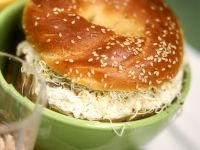 Bagels with Cream Cheese, Horseradish, and Sprouts recipe