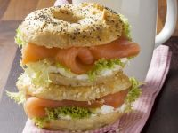 Bagels with Salmon and Cream Cheese recipe