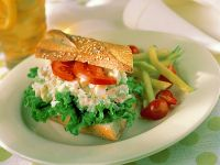 Baguette with Egg Salad recipe