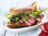 Sliced Beef and Tomato Preserve Sandwich recipe