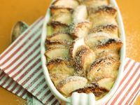 Baked Apple Pudding with Bread Topping recipe