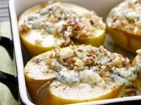 Baked Apples with Blue Cheese and Walnuts recipe