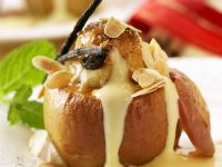 Baked Apples with Creme Anglais recipe