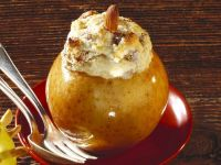Baked Apples with Marzipan and Meringue Topping recipe
