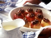 Baked Apples with Nut Filling and Vanilla Sauce recipe